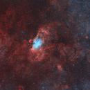 NGC6604, M16&M17 Widefield Image (Bicolor),                                Shenyan Zhang