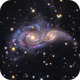 NGC 2207 and IC 2163  - Colliding Galaxies,                                Terry Robison