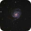 Reprocessing of 7 year old data of M101.  Shot 2-18-2013,                                Mo
