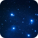 m45 the pleiades,                                frost