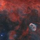 NGC6888 and Soap Bubble (PN G75.5+1.7) -SHOLRGB,                                Paddy Gilliland