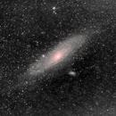 M31 Andromeda Samyang 135mm f2  -- heavily cropped,                                George B Grimm