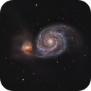 The Whirlpool Galaxy and a close friend: M51A and M51B,                                Bogdan Borz