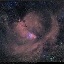 Christmas Tree Cluster/Cone Nebula Region of Monoceros, HαHαGB, 17-18 Mar 2017,                                David Dearden