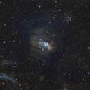 Bubble Nebula - widefield narrowband,                                jsines