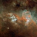 NGC 3603 NGC 3576 Liberty's Statue,                                litobrit