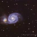 Whirlpool Galaxy,                                Sean Heberly