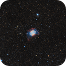 M27 The Dumbbell nebula in SHO-LRGB,                                equinoxx