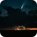 Comet Neowise - Mont Saint Michel,                                Pascal Gouraud