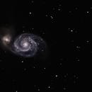 The Whirlpool Galaxy, M51, 300 mm Telephoto,                                Roger Clark