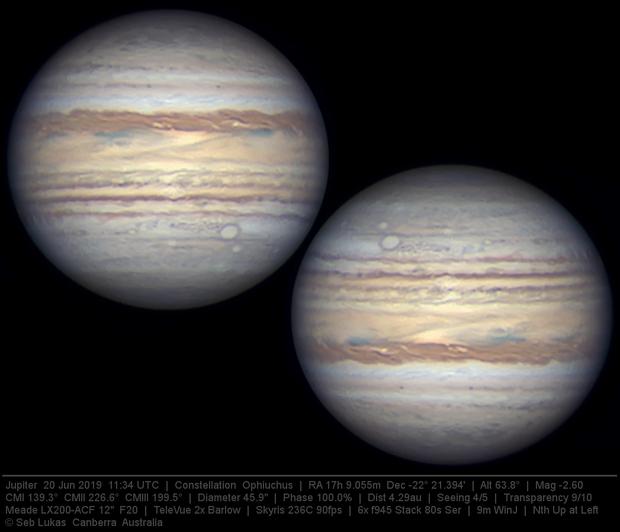 Jupiter 20 Jun 2019 - 9 min WinJ composite - 1/3,                                Seb Lukas