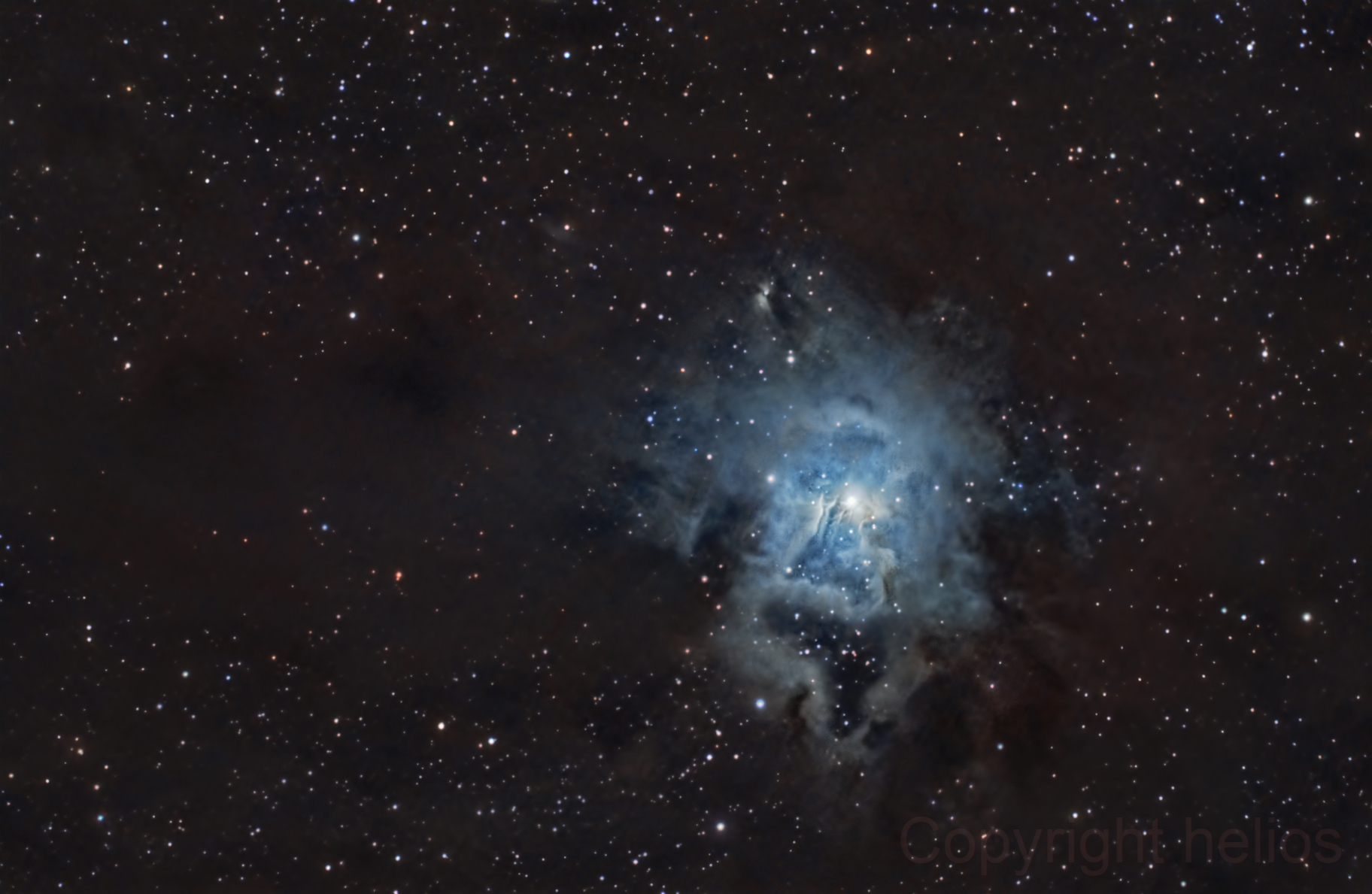 ngc7023, Iris Nebula,                                helios