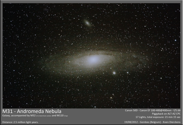 M31 - Andromeda Nebula,                                Koen Dierckens