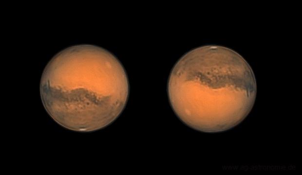 Mars on 10th October 2020 (LRGB @ 38°),                                Henning Schmidt