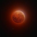 The Blood Moon ... a lunar eclipse.,                                tonyhallas