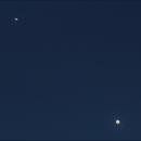 Jupiter & Saturn Conjunction (getting close - 17 Dec 2020),                                Geof Lewis