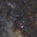 Milky Way around M8 & M20 in Sagittarius,                                PiPais