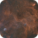 A Dolphin stuck between the Crescent and the Tulip - NGC6888 - WR-134 - Sh2-101 - SHO (1h/filter),                                Axel