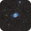 Hubble Palette M27 with RGB stars,                                Peter Folkesson