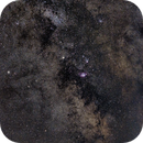 Saturn with Lagoon and Trifid Nebulae in the Southern Milky Way,                                Michele Vonci
