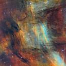 Celestial painting  - IC5068 nebula  in Cygnus,                                Arnaud Peel