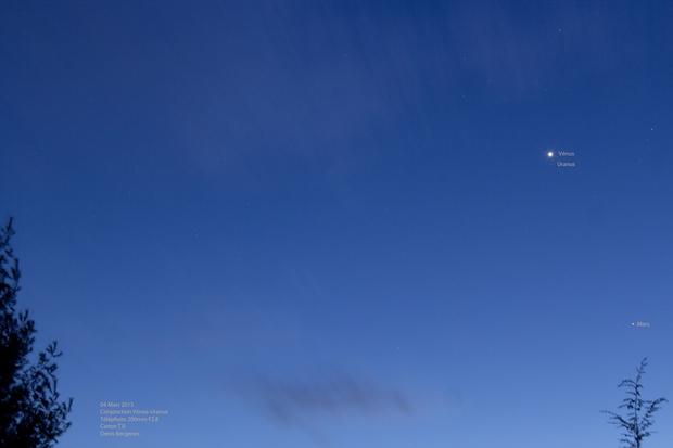 Conjonction Vénus-Uranus,                                Denis Bergeron