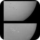 Sun in White Light and H-alpha - April 26, 2021 with AR2818/2820/2821,                                JDJ