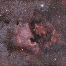 Deneb, l'Amérique du Nord et le Pélican et  au 135mm (Ngc 7000 wide field),                                Laurent3112