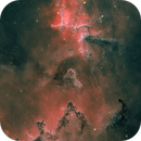 Inside the Dark Heart: IC1805 and Melotte 15 in hoSS Palette,                                Chad Leader