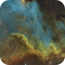 Storm Over The Three Sisters Mountains (NGC 7000),                                Ara