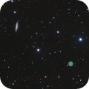 Widefield on the Owl Nebula and Surfboard Galaxy,                                Drew Evans