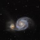 M51 Whirlpool Galaxy,                                bilgebay
