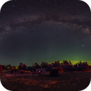 Pano of milkyway and LAAS site,                                pedro lozano