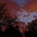 Rapprochement Lune Jupiter Vénus,                                Astronomie rétro