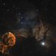 The jellyfish nebula (IC 443, Sharpless 248)  Mosaic Two panels,                                Iñigo Gamarra