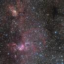 NGC3576 + NGC3603 - Statue of Liberty  @ 1000mm,                                  Astro-Wene