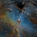 M16 - The Eagle Nebula - Hubble Palette,                                Samara