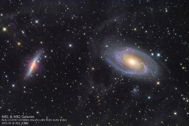 M81 M82 and IFN by RC8 and D7000m,                                Ray Liao