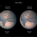 Mars (x2) IR-RGB - 3 Nov 2020,                                Geof Lewis