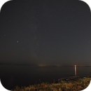 Saturn, Jupiter, and our moon at the beach,                                Jason R Wait