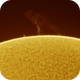 Sun flare of the 4th of May 2020,                                Maël Gainche
