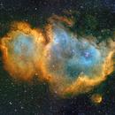 Sh2-199 (Soul Nebula) panel 2x1 in Hubble Palette (SII/Hα/OIII),                                Jose Carballada