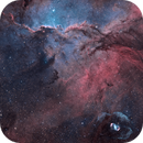 NGC6188 – Fighting Dragons of Ara and the Cosmic egg in HOO-RVB, 2 panels mosaïc,                                Magellan_Team