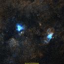 Omega and Eagle Nebulae,                                jprejean