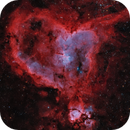 The Heart Nebula in Hα/Oiii+RGB (2-panel Mosaic),                                Brent Newton