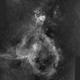 Heart Nebula IC1805 2-Panel-Mosaic H-Alpha,                                Mario Gromke
