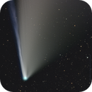 Close approach (almost), color close up of Comet C2020 F3 NEOWISE,                                Dan Bartlett
