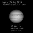 Jupiter 24 July 2020 (filter comparison),                                rdk_CA