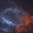 Sh2-157 Lobster Claw Nebula in HOO,                                Douglas J Struble