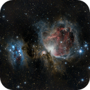 Running Man & Orion Nebulas,                                Loran Hughes